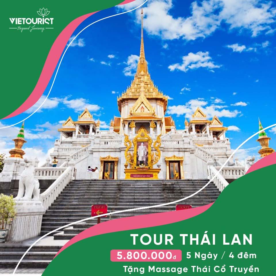 Tour Du Lịch Thái Lan: BangKok - Pattaya Khởi Hành Từ Sài Gòn