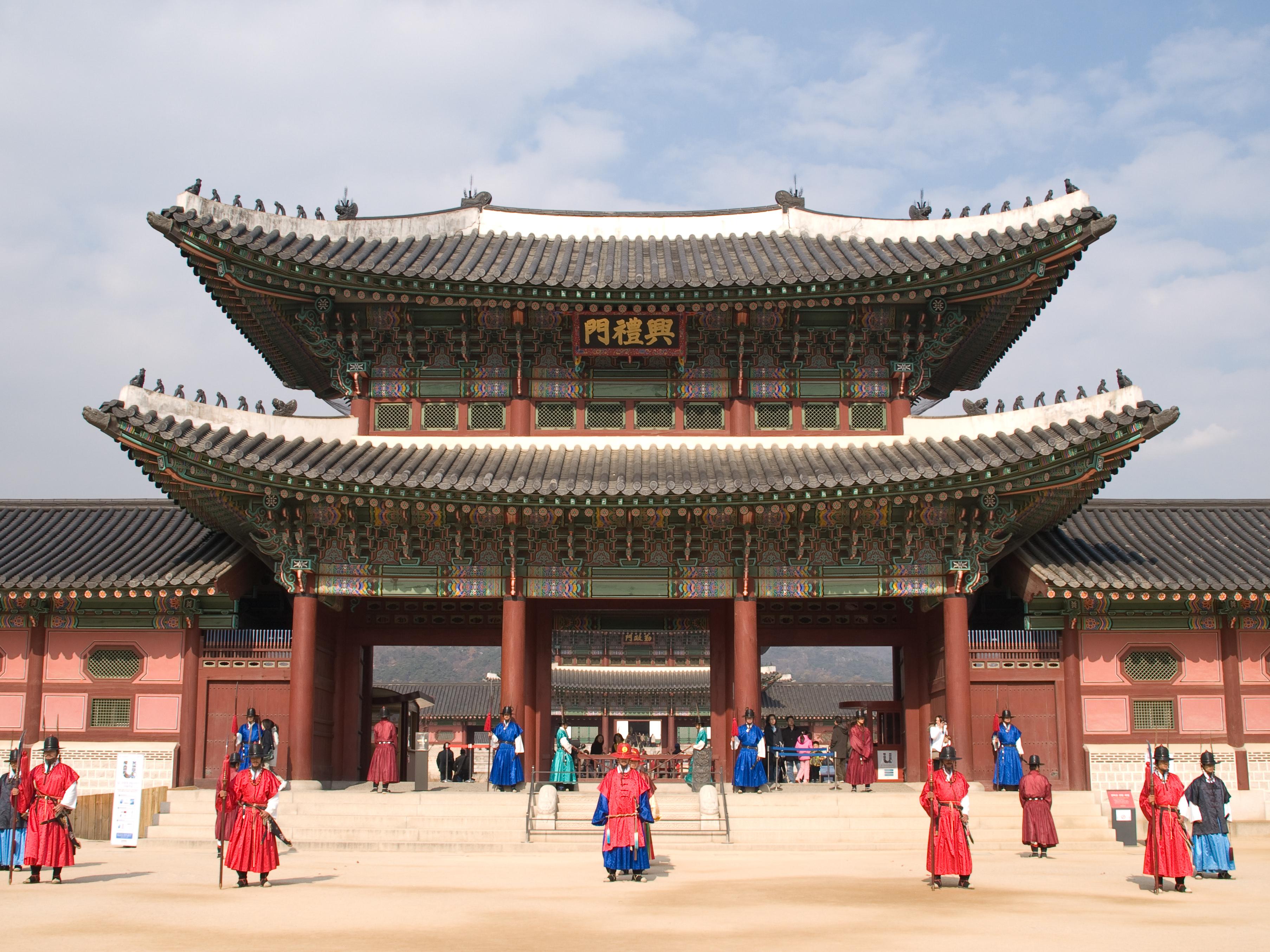 Cung điện cảnh phúc cung - du lịch Hàn Quốc