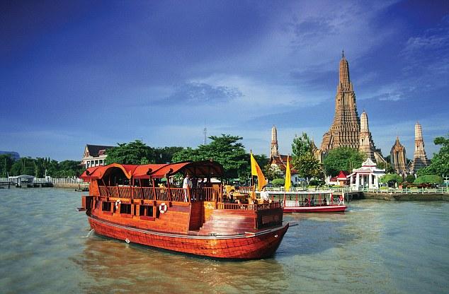 dạo thuyền trên dòng sông Chaopraya - Du lịch thái Lan hè