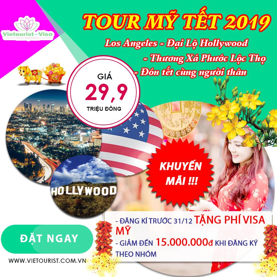 Tour Mỹ tết âm lịch 2019