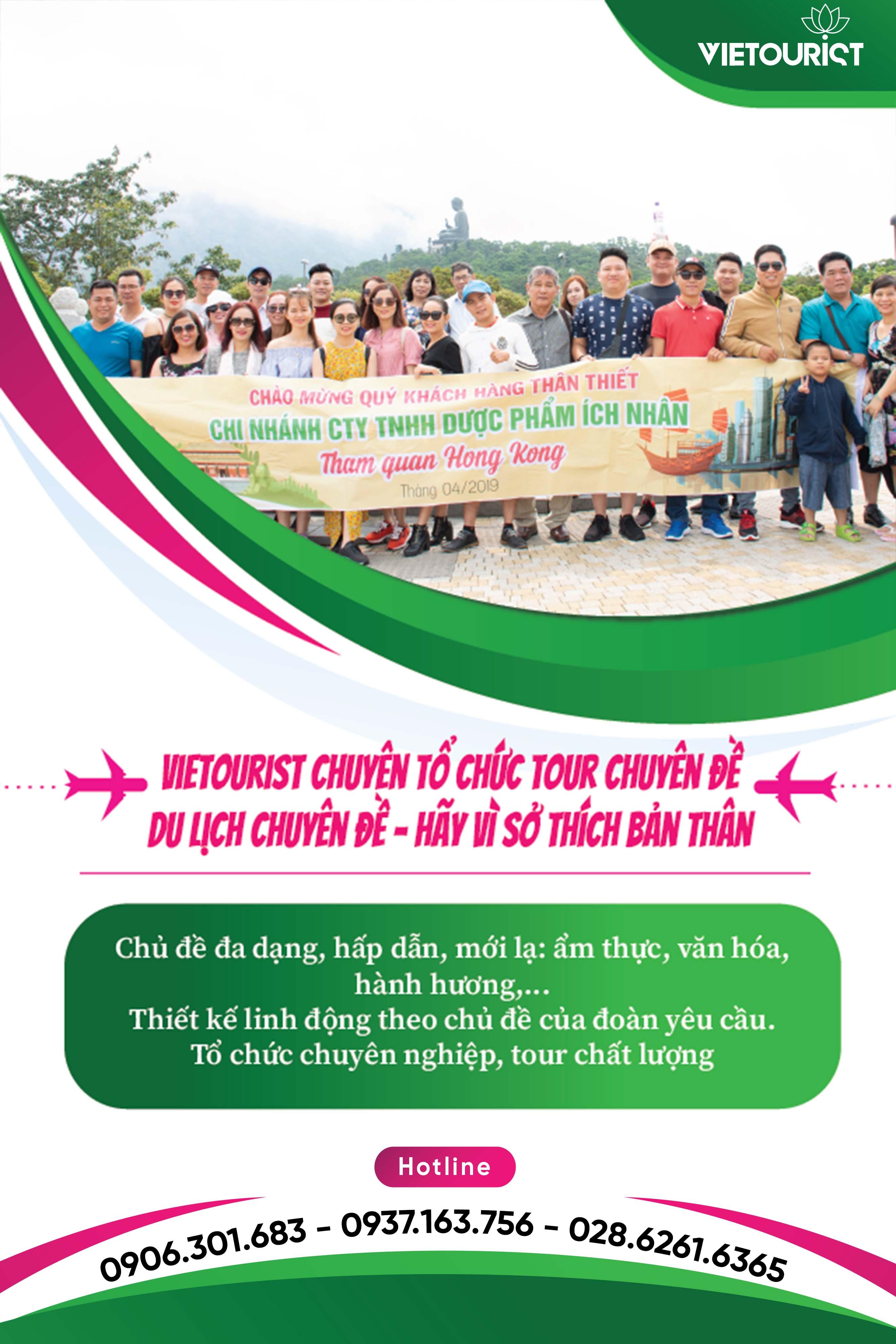Vietourist tổ chức tour du lịch chuyên đề theo yêu cầu